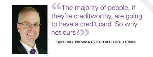 Tony Hale, President/CEO, Texell Credit Union