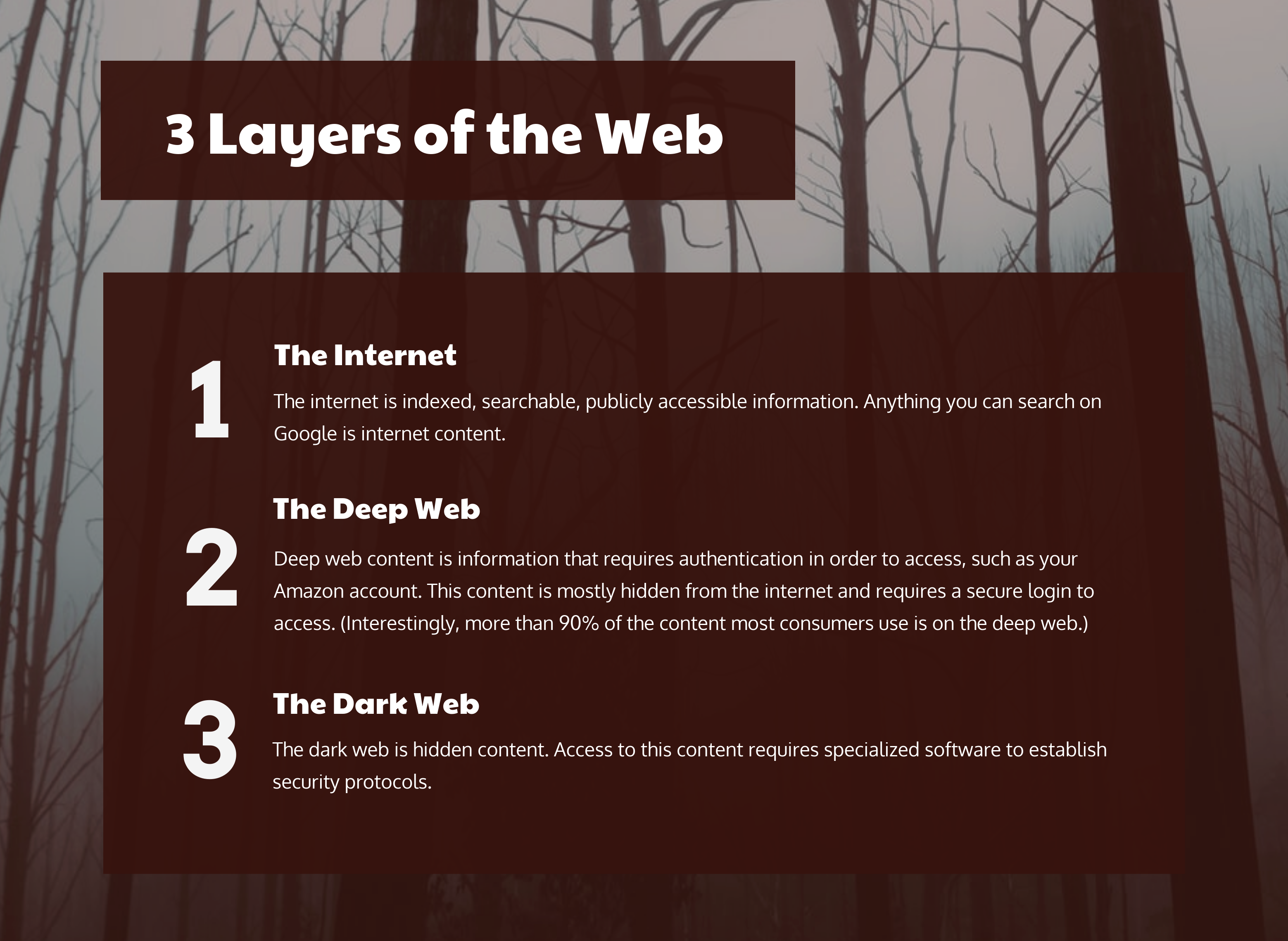 3 Layers of the Web