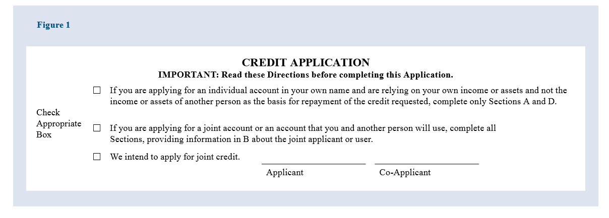 Sample Form for Joint Intent to Apply for Credit from Regulator