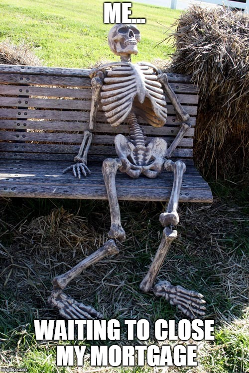 A man turns into Skeleton while waiting on his mortgage to close
