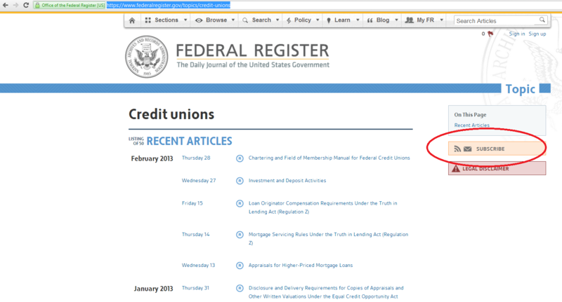 Credit Union Topic - Federal Register