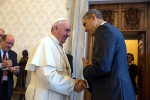 Obama with Pope Francis 2014