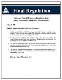 NAFCU Final Regulation Summary